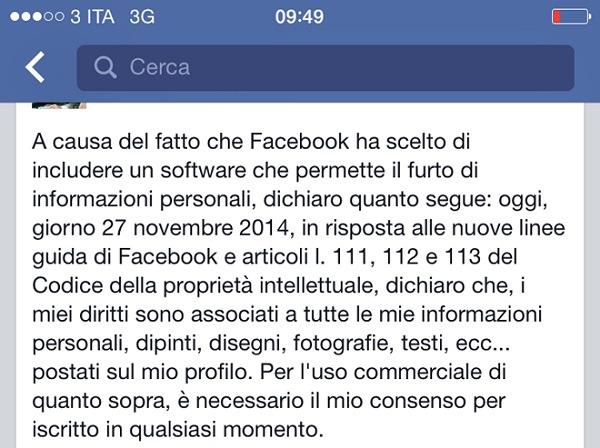 aggiornamenti facebook normative