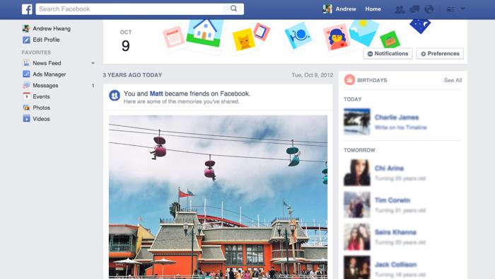 aggiornamenti facebook stream