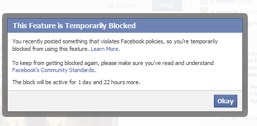 facebook community standard