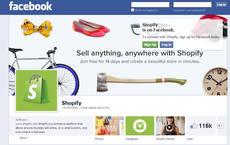 vendere-su-facebook-con-shopify