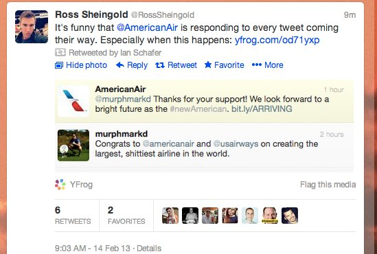 social media epic fail american airlines