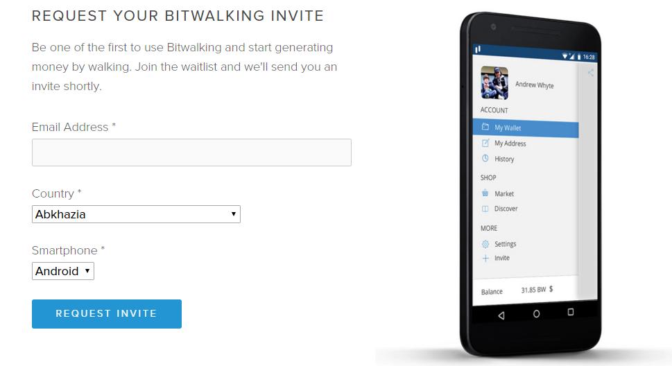come guadagnare con le app Download Bitwalking