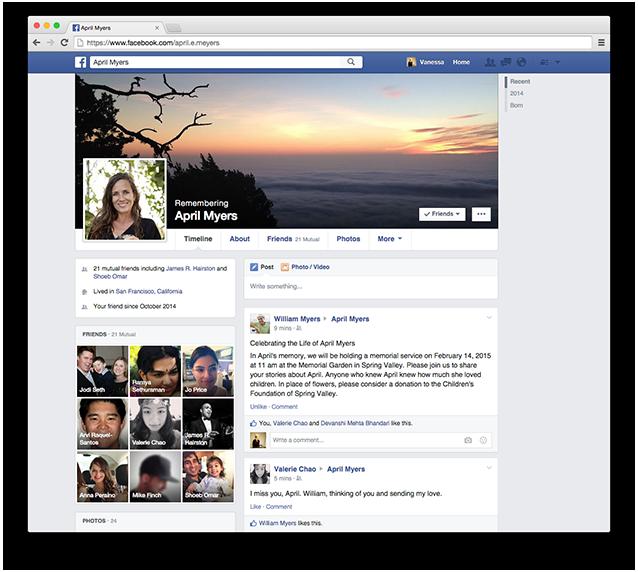 aggiornamenti facebook 2015: erede
