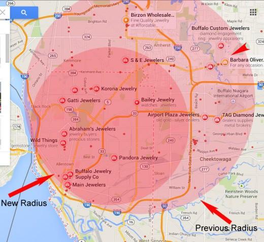 local search marketing radius