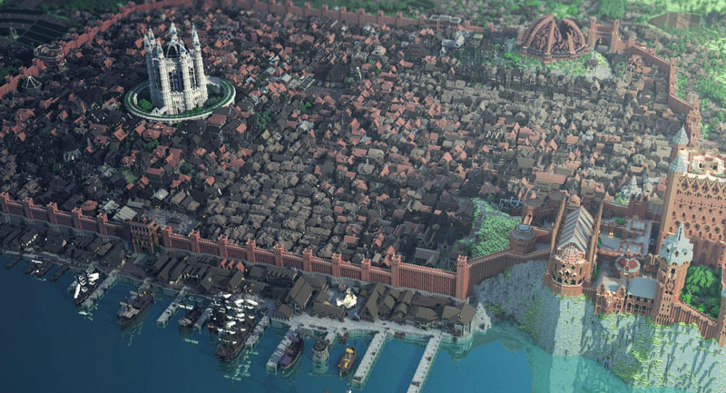 mappe di minecraft game of thrones