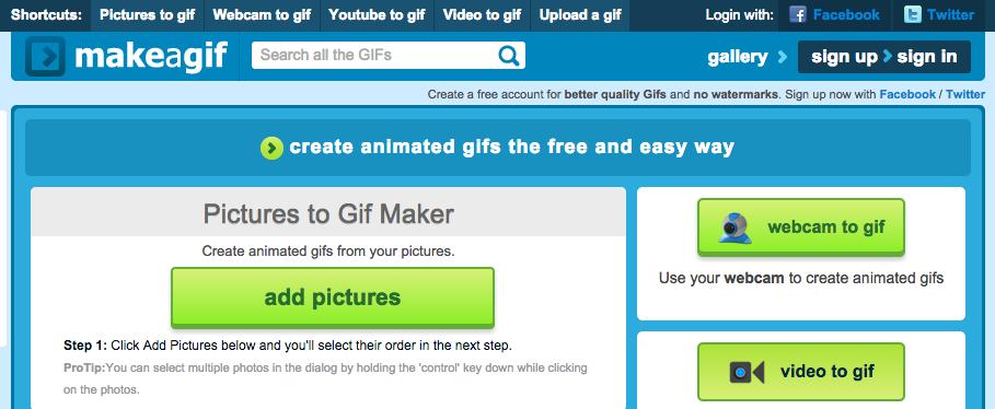 tool gratuito per creare gif