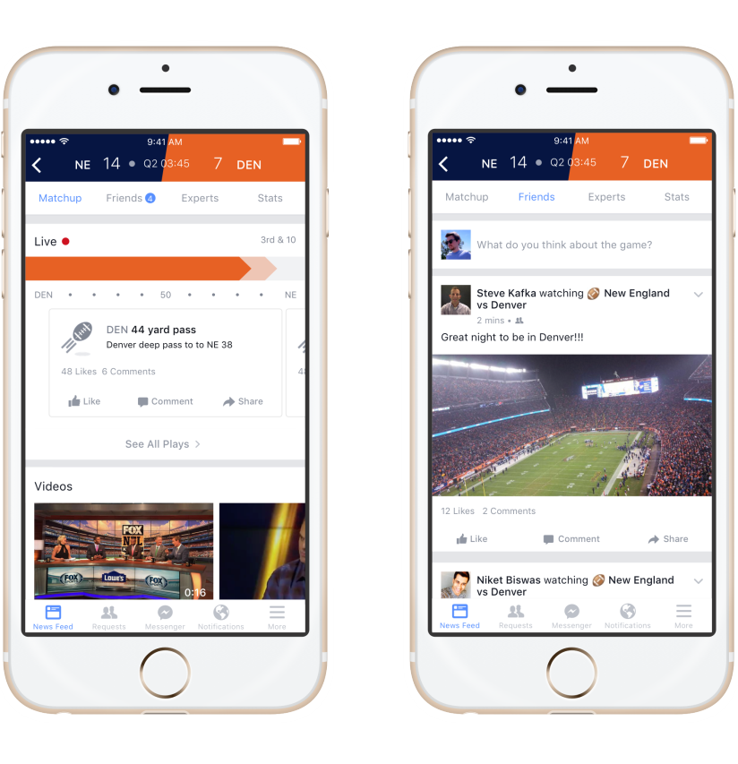 facebook sports stadium funzionamento