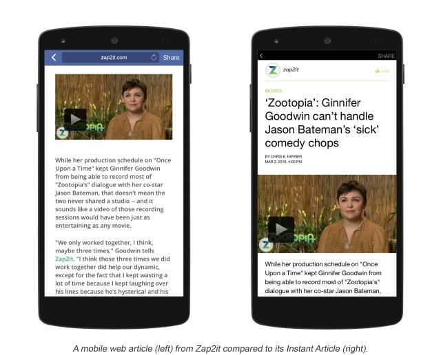 facebook instant articles per wordpress