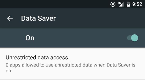 risparmio dati android N