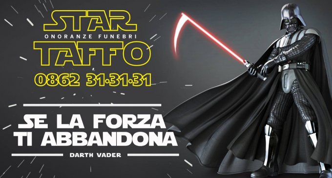 marketing taffo funebri starwars