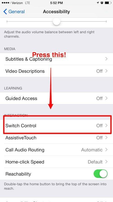 controllare iPhone muovendo la testa