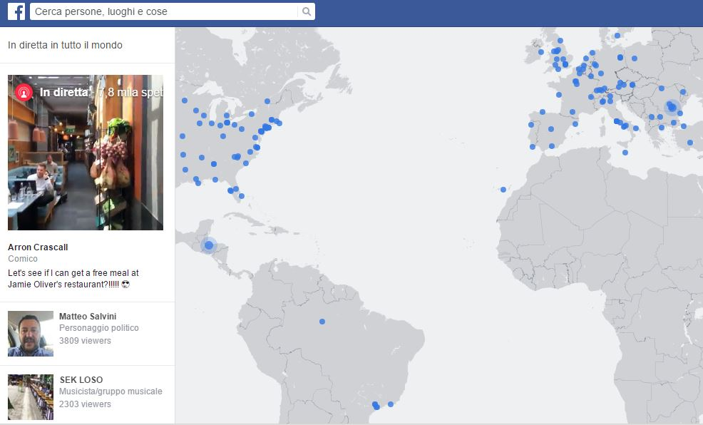 facebook live video map