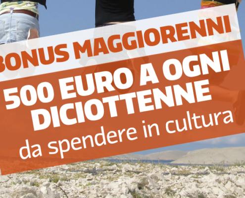 Bonus di 500 euro spendibile in attività culturali